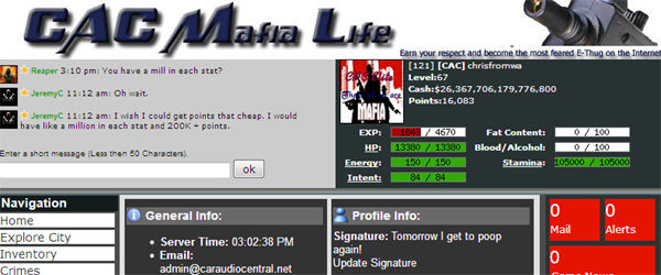 CAC Mafia Life Game preview